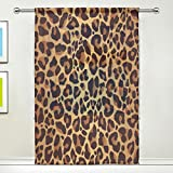 Use7 - Cortinas de Leopardo con Purpurina Personalizable, de 55 x 78 cm, 1 Pieza, diseño de Animales, Moderno, para decoración del salón, Dormitorio y hogar