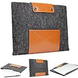 Urcover® Handgefertige Designer MacBook Pro 15 Zoll Tasche Sleeve Hülle EXTRA Fach für Maus Ladekabel etc. Notebooktasche Ultrabook-Schutzhülle Laptophülle in Schwarz Braun