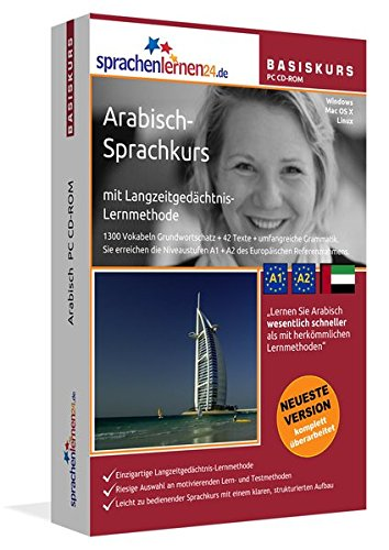 Arabisch-Basiskurs mit Langzeitgedächtnis-Lernmethode von Sprachenlernen24: Lernstufen A1 + A2....