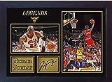SGH SERVICES Neuf encadrée Michael Jordan Chicago Bulls dédicacée Souvenir de Basket-Ball NBA Photo dédicacée encadrée Cadre en Panneau MDF Impression Photo