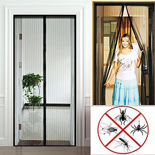 anpro rideau moustiquaire magn tique moustiquaire aimant de porte rideau antimoustique 90x210cm. Black Bedroom Furniture Sets. Home Design Ideas