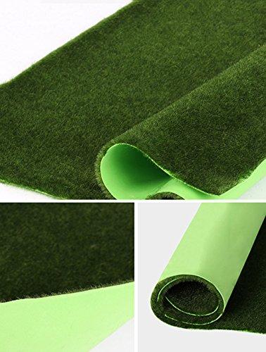 CAIJUN Alfombras Césped, verde pared plantas de musgo verde, césped artificial verde escena ventana de visualización de musgo falso Alfombras infantiles ( Tamaño : C-70*50cm )