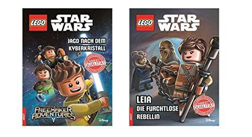 Star Wars Lego Lesebücher im Set - Jagd nach dem Kyberkristall und Leia die furchtlose Rebellin (Die Geheime Geschichte Von Star Wars)