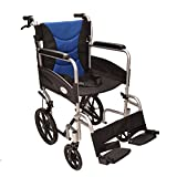 Ultra Lightweight aluminium folding transit wheelchair with attendant brakes ECTR07