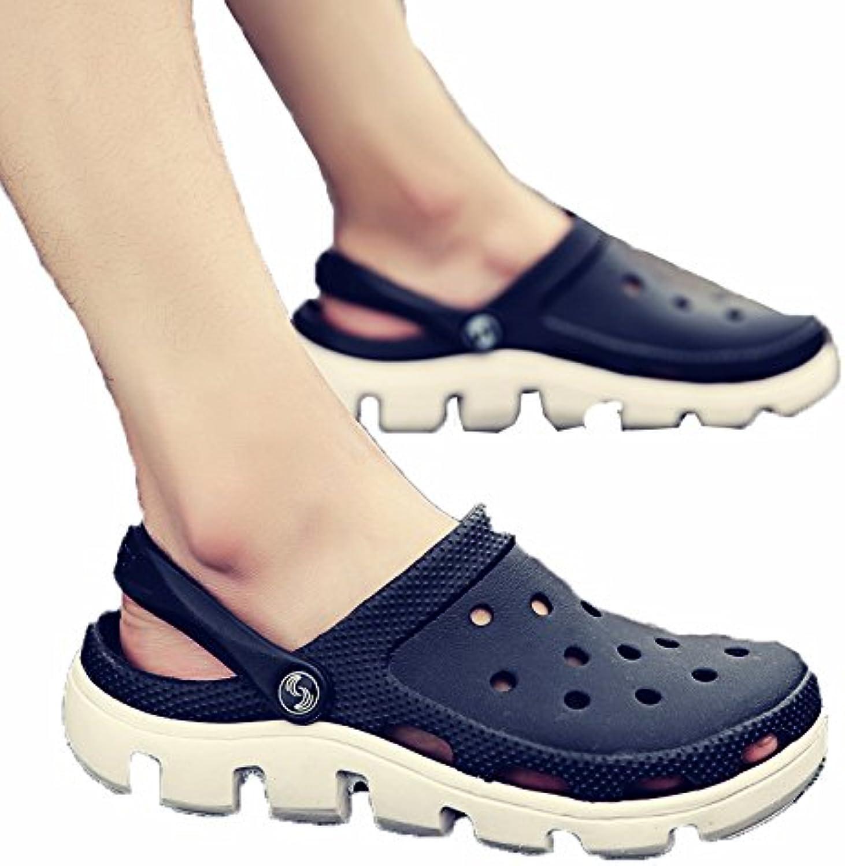 WCZ Sandalias y Zapatillas de Verano para Hombres, Zapatillas de Hombre, Zapatos de Playa Antideslizantes,Negro,38