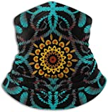 fuyon Textured Tapestry Floral Paisley The Arts Abstract Ski Mask Cold Weather Face Mask Neck Warmer Fleece Hood Winter Hats