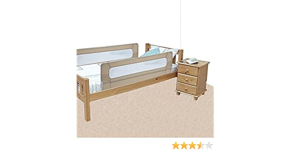 Safetots Extra Wide Double Sided Bed Rail Natural Amazoncouk Baby
