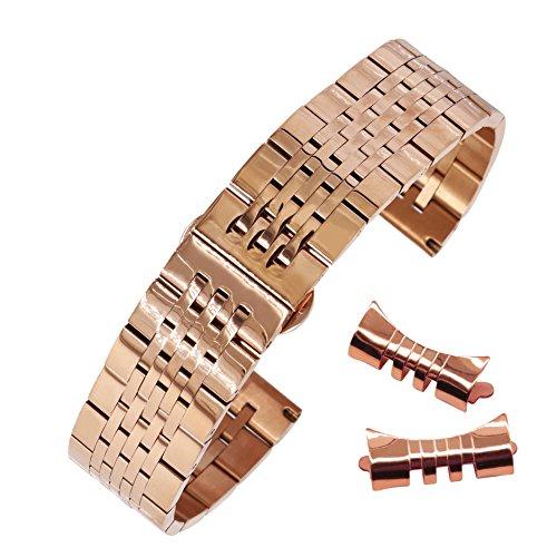 21mm Uhrenarmband Roségold Uhrenarmband Edelstahluhrenarmband Band Uhr Uhrenarmbänder Edelstahl Uhrenarmband Uhrenarmbänder bracele - Mido-uhr-band