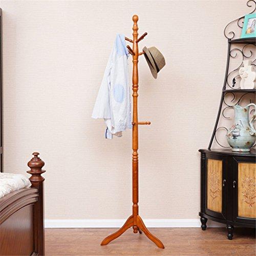 Bjff® appendiabiti legno massello tipo di pavimento facile leva singola appendiabiti moderno semplice appendiabiti ad angolo soggiorno camera da letto appendini,honey color