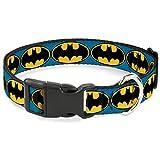 Buckle Down Bat Signal 3blau/schwarz/gelb Kunststoff Clip Halsband