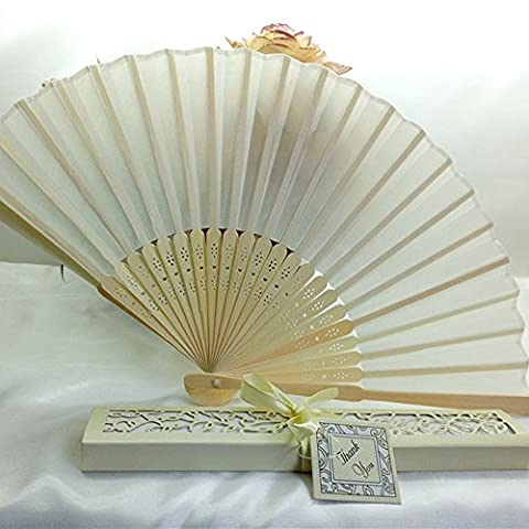 Classical Chinese Style Folding Fan 1PC Bridal Bamboo Silk Hand Fan Wedding Favors Guests Gifts Lanspo