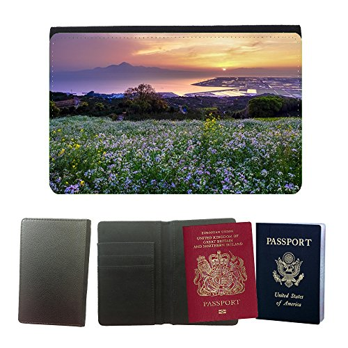 Muster PU Passdecke Inhaber // M00421589 Hill Of The Narcissist Japan Kumamoto // Universal passport leather - Phone Japan Cover