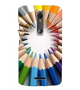 EPICCASE color pencils Mobile Back Case Cover For Moto X 3rd Gen (Designer Case)