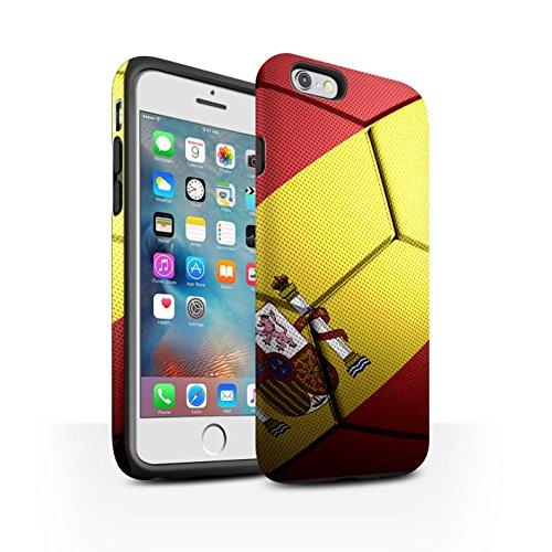 STUFF4 Matte Harten Stoßfest Hülle / Case für Apple iPhone 6+/Plus 5.5 / Frankreich Muster / Fußball Nationen Kollektion Spanien/Spanische