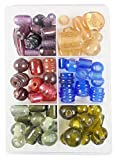 #10: eshoppee 400 gm 15 to 30 mm Glass Furnace Fancy Glass Beads for Jewellery Art and Craft DIY Project kit (Multi 4)