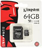 Kingston 64 GB UHS Class 1/Class10 microSDXC UHS-I Flash Memory Card (microSDXC to SD Adapter Included)