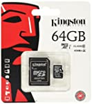 Kingston SDC10G2/64GB Carte MicroSD d...