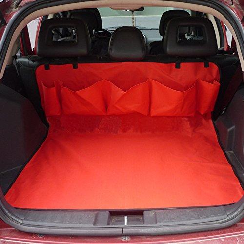 Drymate Cover ezykoo resistente per bagagliaio posteriore Pet Dog Cat antiscivolo letto tappetino con 5tasche, facile installazione per auto Vans SUV