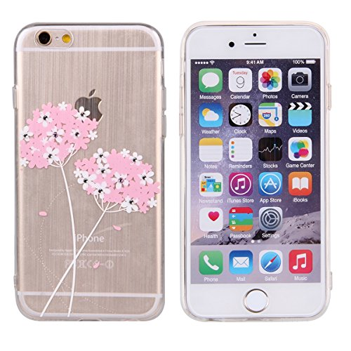iPhone 5S Case,iPhone 5 Cover, Felfy Apple iPhone 5/5S Rosa Weiss Niederlassung Muster Intarsien Shiny Funkeln Diamant Design Ultra Dünne weiche TPU Gel Silikon Transparent Clear Crystal Klar zurück S Rosa Muster #2