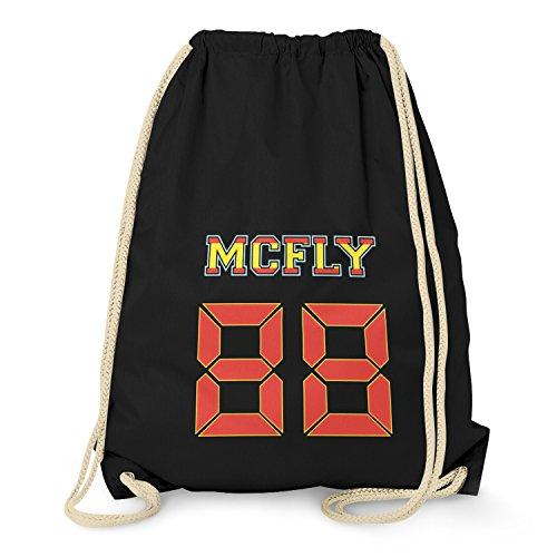 TEXLAB - McFly 88 - Turnbeutel, schwarz (Schuhe Aus Zurück In Die Zukunft)