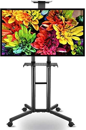 HLZ Computer-Monitorständer Mobile TV Trolley Ständer mit arretierbaren Rollen, Verstellbare Universal 32-70-Zoll-TV-Ständer mit Doppel-Regal Tischhalterung (Color : 160cm)