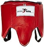 Precision Training  - Protector abdominal de críquet, color negro/rojo, talla L