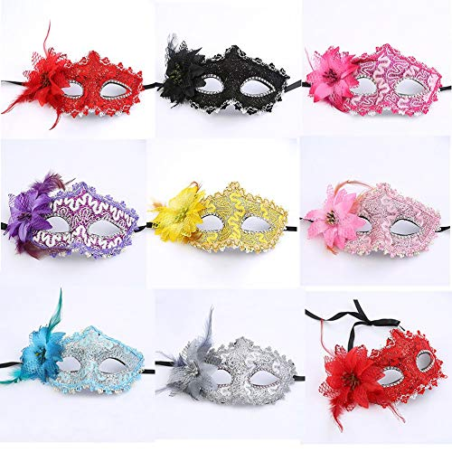 HarveyRudol85 Drachen Leder Futter Maskerade Maske Lady Prinzessin Charms Partei Spielzeug