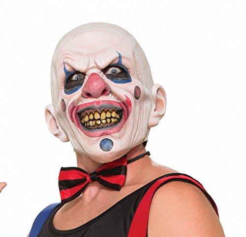 Horror Clown mit braunen Zähnen (Verrückte Clown Masken)