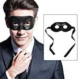 Cusfull Máscara Negra Venecianas Hombres Mujeres para Fiesta de Disfraces Halloween Bola de Mascarada Clásica Navidad Mascaras PU Artesanal para Adultos Lujo