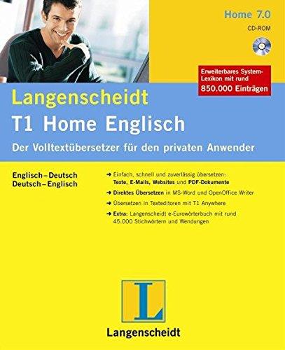 Langenscheidt T1 Home Englisch Version 7.0: Der Volltextübersetzer für den privaten Anwender