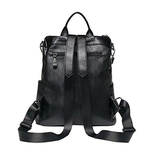 Zaino Da Viaggio Yy.f Borsa A Tracolla Di Moda Borsa A Tracolla In Morbida Borsa Interno Elegante Pratico Pura Borsa Nera Black