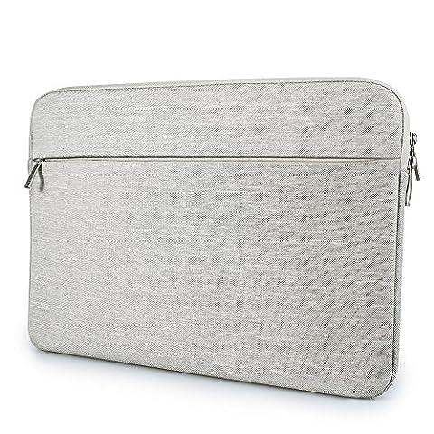 """Housse de Protection pour Ordinateur Portable Netbook Ultrabook Sacoche Laptop Pochette PC Compatible 13"""" pour Macbook Acer Asus Dell Fujitsu Lenovo HP Toshiba - Gris Clair"""