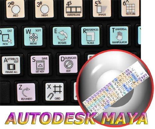 AUTODESK MAYA GALAXY SERIES NEW KEYBOARD STICKERS SHORTCUTS 12X12 SIZE by  4Keyboard