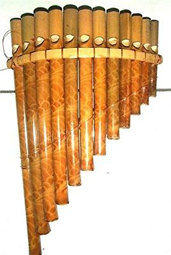 Bamboo Pan pipes,flute.Fairtrade from Bali.Woodwind musical instrument.