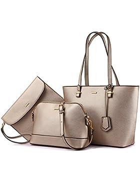 Handtaschen für Frauen Schultertaschen Tragetasche Schulranzen Hobo 3er Geldbörse Set