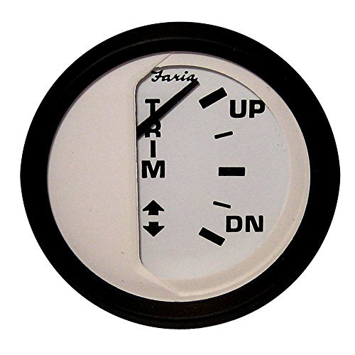 Faria Euro White Trim Gauge, OMC outboard by FARIA INSTRUMENTS