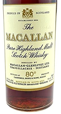 Rarity: The Macallan Whisky Vintage 1961 original bottling with 0.7l - Pure Highland Malt Scotch Whisky