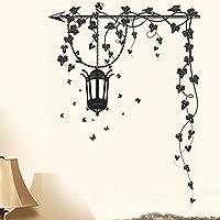 Decals Design 'Hanging Lamp and Vines' Wall Sticker (PVC Vinyl, 70 cm x 50 cm)