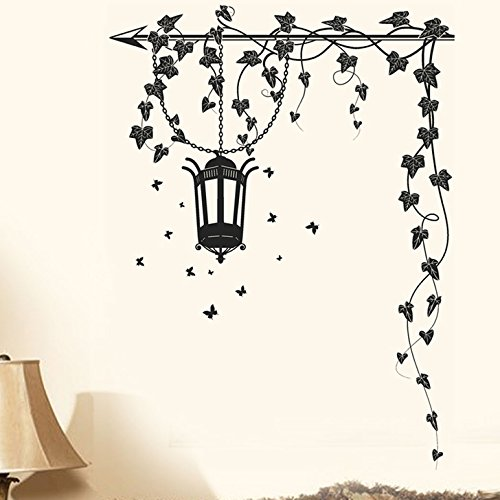 Decals Design 'Hanging Lamp and Vines' Wall Sticker (PVC Vinyl, 70 cm...