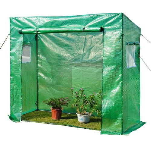 Homcom Gewächshaus Treibhaus Tomatenhaus Frühbeet 200x77x169 cm grün, 1
