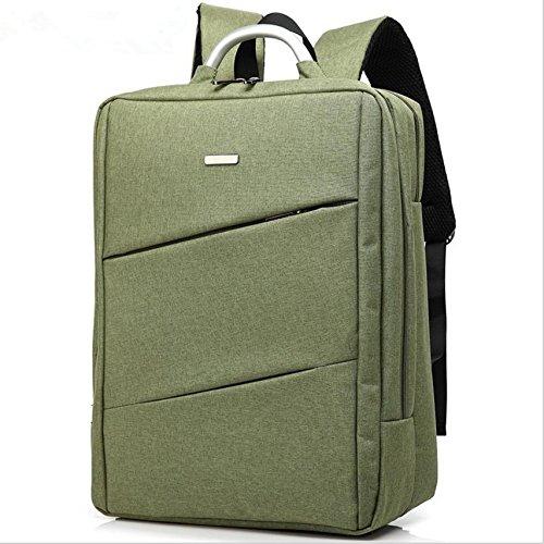 Fen Rucksack für MacBook Air 33cm Farbe Nylon Material Convertible Laptop Messenger Bag Umhängetasche Rucksack Multifunktions-Tasche, Grün