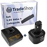 Angebot im Set: Akku Schnellladegerät + Hochleistungs Akku 9,6V 2000mAh für Dewalt BSA10K CD9602K D926K DC010 DC011 DC750KA DC855KA DW050 DW050K DW077K DW077KH DW626K DW626K2 DW902 DW926 DW926K DW926K2 DW926KA9 DW952 DW955 DW955K DW955K2