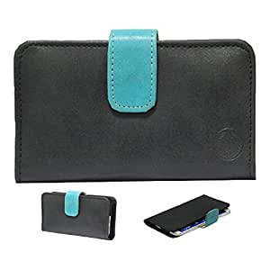 Jo Jo Nillofer Leather Carry Case Cover Pouch Wallet Case For LG Spirit Black Light Blue