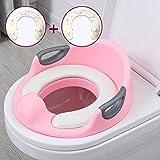 CGN- Sedile da addestramento per WC - Anello di sicurezza per toilette ragazzo o ragazza Superficie antiscivolo di sicurezza - 4 colori disponibili morbido (Colore : A, dimensioni : 33.4*33.4*12.5cm)