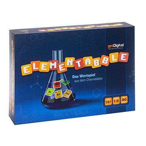 getDigital Elementabble - Das Periodensystem Brettspiel mit Chemischen Elementen als Buchstaben - Gesellschaftsspiel für Jugendliche und Erwachsene, bis zu 5 Spieler