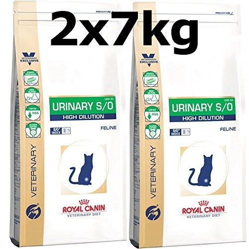Royal Canin Urinary S/O High Dilution Katze Trockenfutter - Diätfutter 2 x 7 kg = 14kg