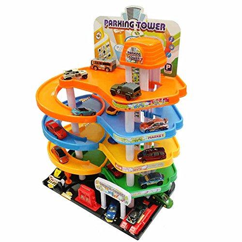 FEI Jouets Stationnement de voitures pour enfants Début Éducation ( Couleur : 10 cars )