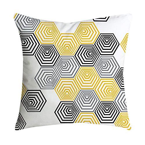 Xmiral Kissenbezüge Zuhause Decor Ananas Blatt gelb Sofa Auto Pillowcase Kopfkissenbezug(N)