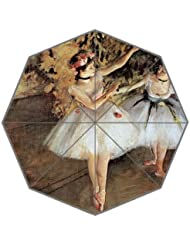 Ballett Dance Öle Gemälde Custom faltbar Regen Sonnenschirm 8Rippen Reise Golf Regenschirm