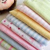 #5: Baby Wash Cloth - Baby Infant Newborn Soft Towel Washcloth Bathing Feeding Wipe Cloth Baby Bathing Skin Care (Size : 21 X 20 Cm) By KARP - Set Of 8 Pcs (Assorted Design)